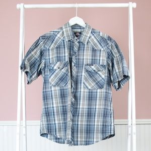 Dickies Cotton Plaid Button Down Size XL